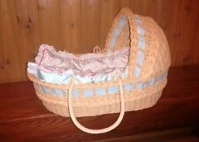 PLEASANT COMPANY AMERICAN GIRL BITTY BABY MOSES BASKET + BEDDING ORIGINAL OWNER
