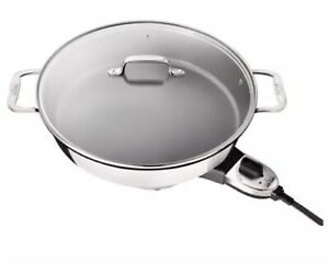 All-Clad 7 QT Stainless Steel  Electric Skillet w/ Glass Lid  - Brand New