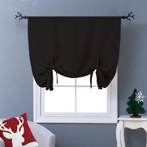 100% Cotton Curtain Set Solid Jet Black Blackout Curtain For Home Decorative