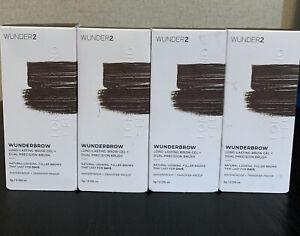 Wunder2 Wunder Brow 1-Step Brow Gel + Brush - Black/Brown-LOT OF 4