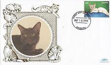 (80869) Lesotho Benham FDC Cats - 18 May 1988