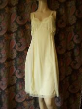 Vintage Philmaid Yellow Princess Silky Nylon Slip Lingerie 34