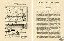 Regina Music Box US Patent Art Print READY TO FRAME! 1893 Record Player