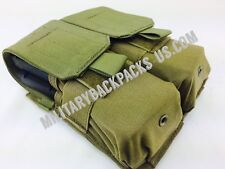 USMC Coyote Brown Blackhawk Double M4 Khaki Tan Molle Pouch Ammo Mag Magazine