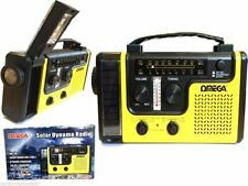 Solar Powered + Dynamo Wind Up Rechargeable AM FM Radio Music with LED Torch New