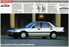 Publicité Advertising 1986 (2 pages) La Honda Accord