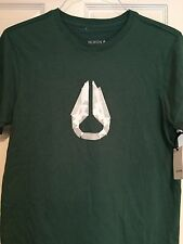 Nixon Mens T-Shirt Posy Green Short Sleeve Tape Icon Small S *New With Tags*
