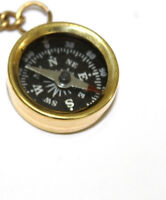 Lot of 10 pcs Brass Compass Keychain Marine Nautical Key Ring Beautifull Item b