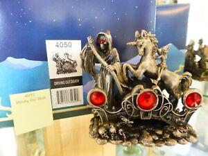 Myth & Magic - 4050 Driving Out Death - Grim Reaper Unicorn Fairy Horse BOX SALE