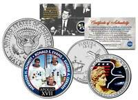 APOLLO 17 SPACE MISSION 2-Coin Set US Quarter & JFK Half Dollar NASA ASTRONAUTS