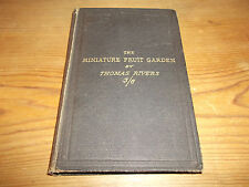 Livre The Miniature Fruit Jardin Thomas Rivers 1877 Culture de Bush Fruit Trees
