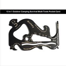 13 in 1 Monkey Outdoor Survival Tool Camping Multi Tools Pocket Card Wallet Tool