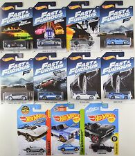 2017 Hot Wheels: FAST & And FURIOUS Walmart COMPLETE 8 Car Set + 3 Bonus Cars