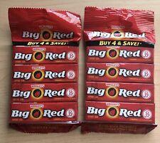 BIG RED Cinnamon Chewing Gum Wrigley's TWO 4x5 stick Packs American Gum MAR2020