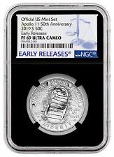 2019 S US Apollo 11 Clad Half Dollar From Apollo 11 Set NGC PF69 ER Blk SKU57277