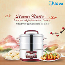 Midea STEAM COOKER STEAMER 3 TRAY DIAL TIMER HEALTHY STACKABLE