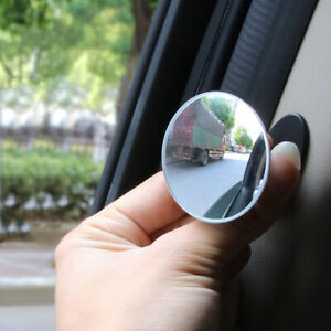 1pc Car Auto 360° Blind Spot Side Mirror Stick On Glass Adjustable Safety Lens