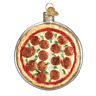 """Pizza Pie"" (32350)X Old World Christmas Glass Ornament w/ OWC Box"