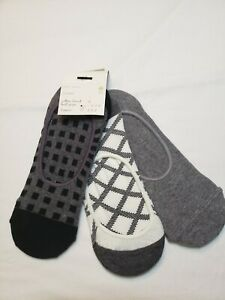 A New Day Womens Shoe Liner Socks 3 Pairs Shoe Size 4-10 Gray Comfort
