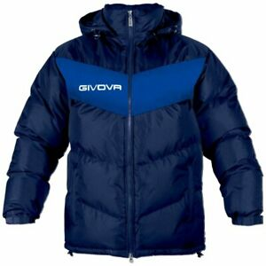 Givova XS (30-32) Navy/Blue Football Substitution Jacket Manager Subs Coat