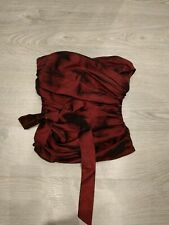 Topshop Size 8 Red Bustier Boned With Zip At The Back Burlesque Steampunk