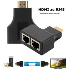 C26 2x 30m HDMI To RJ45 Port Adapter Extender Network Lan Ethernet Cat5e CAT6