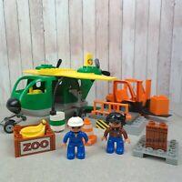 Lego Duplo 5594 Cargo Plane & Forklift Set Excellent Condition w/ Figures Rare