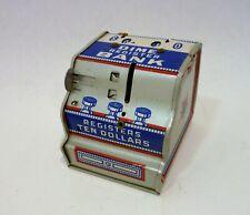 Vintage J. Chein Co. Dime Register Tin Bank