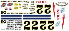 #22 Fireball Roberts 1957 Aiken-Mitchell Motor Co. 1/64 HO Scale Slot Car Decal