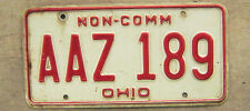 UNDATED OHIO NON-COMMERCIAL LICENSE PLATE # AAZ 189