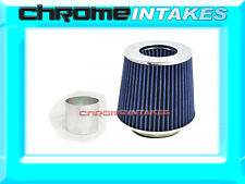 "BLUE UNIVERSAL 3.5"" 89mm DRY AIR FILTER FOR SUBARU/SCION AIR INTAKE+PIPE"
