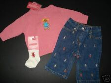 NWT Gymboree Sugar and Spice Pink Sweater Jeans 3-6