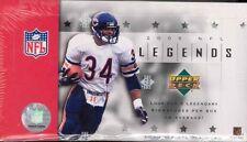 2005 Upper Deck NFL Legends Football Factory Sealed Hobby Box - 3 Autos Per Box