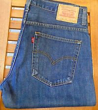 LEVI'S STRAUSS & CO W36 L34 Iconic Rock Star 516 Jeans Darker-Wash Blue Denim