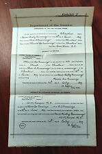 1899 Dept. of Interior Affidavit Doc. of Mother App. As Citizen, Choctaw Nation