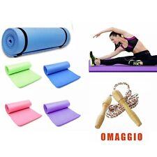 Tappetino yoga Palestra 180x50 tappeto fitness IN OMAGGIO CORDA PER SALTARE