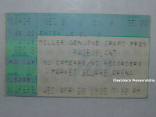 Page & Plant 1985 Concert Ticket Stub Indianapolis Market Square Zeppelin Rare