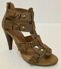 Patternless Canvas Strappy, Ankle Straps Heels for Women
