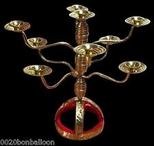 Egyptian Belly Dance Brass Candle Holder Candelabra Shemadan 9 Candles Handmade
