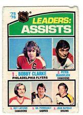 1X BOBBY CLARKE 1976 77 O Pee Chee #2 FR Philadelphia Flyers LAFLEUR Assist OPC