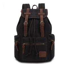 """KAUKKO """"Vintage & Vogue"""" Stylish Laptop Backpack Men's Retro Canvas Leather New"""