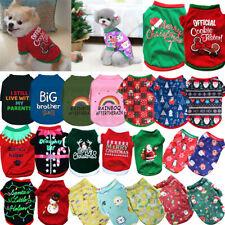 Dog Cat puppy SMALL Pet Christmas Jumper Santa Elf vest Clothes S/M/L t-shirt US