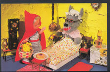 Children Postcard - Childs Toys - Dolls Fairy Tale Scene - Red Riding Hood  1268