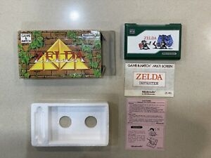Legend Of Zelda Nintendo Game And Watch Rare Double Screen With Box and Manuals