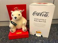 Steiff Animal 666032 Coca Cola Polar Eisbär 20 Cm. État Parfait