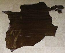 (DCE8736) Hide of Dark Brown Printed Cow Leather Hide Skin