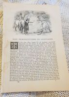 The Persecution in Scotland - 1847 Book Print