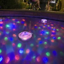 Floating Underwater RGB LED Disco Light Glow Show Swimming Pool Hot Tub Spa Lamp