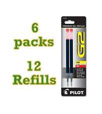 6 Packs (12 Refills) Pilot G2 Pen Gel Red Ink Refill for Fine Point 0.7mm 77242