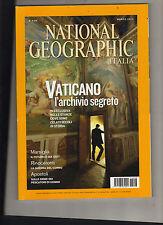 NATIONAL GEOGRAPHIC ITALIA VOL.29 n°3 MARZO  2012 VATICANO L'ARCHIVIO SEGRETO